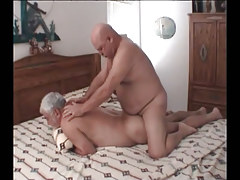 Chubby mature gay gets real anal fuck